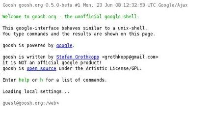 goo.sh shell google