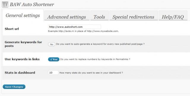 autoshortener boite a web raccourcir permaliens wordpress