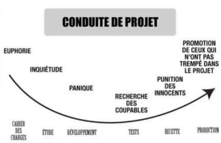 la conduite de projet image infographie humour