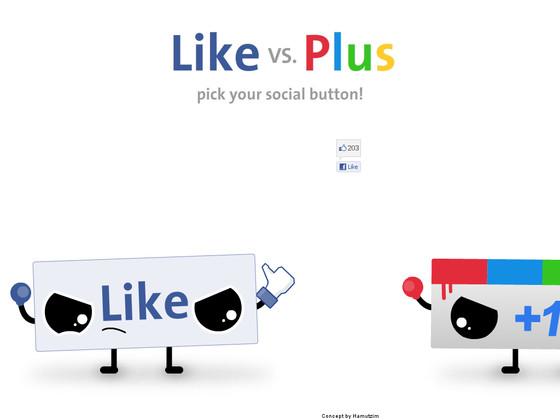 like vs plus vote préference internautes