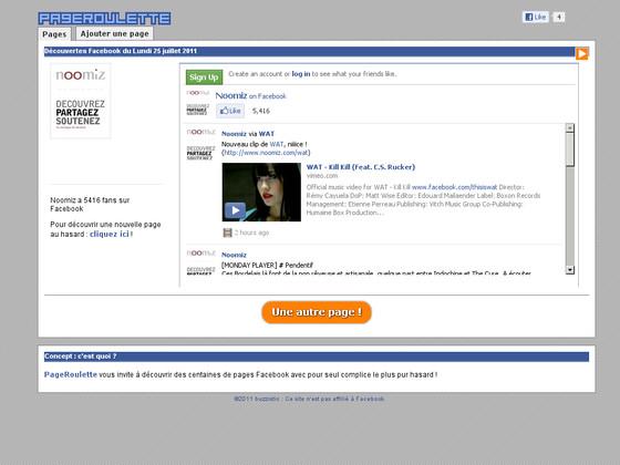 pageroulette découvrir pages facebook tribords
