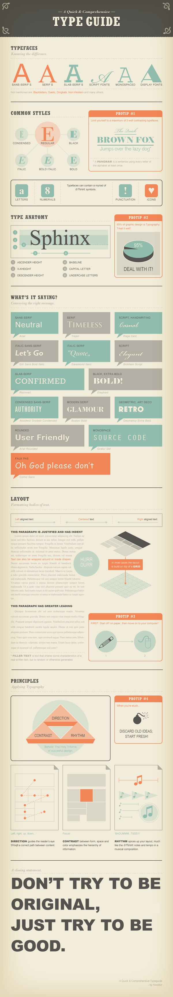fonts infographie types mesures