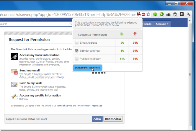 fbsecure sécurité facebook extension chrome permissions controler