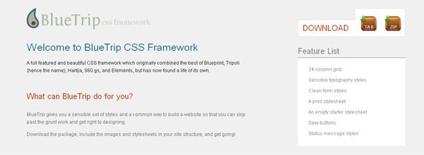 css framework bluetrip