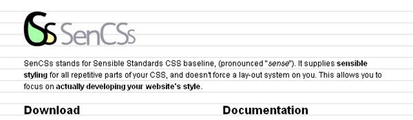 css framework sencss