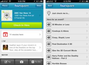 Foursquare : des check-in pour les évènements