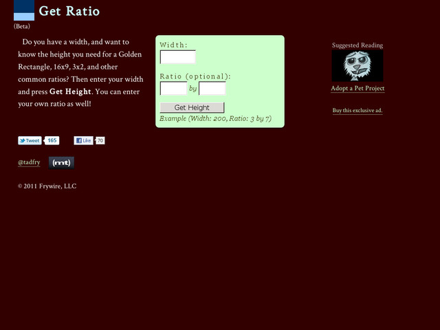getratio calcul dimensions images en ligne