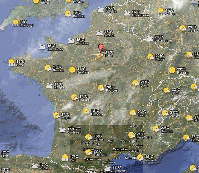 google maps meteo
