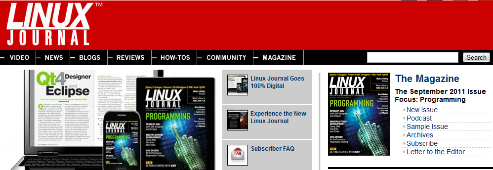 Plus de version papier pour Linux Journal