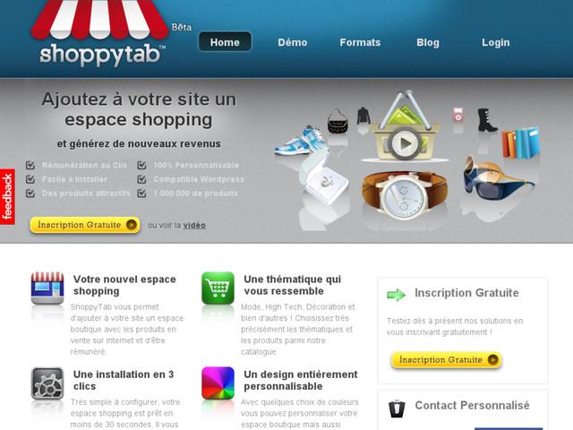 shoppytab cpc boutique javascript site