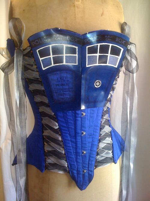 tardis corset geek doctor who