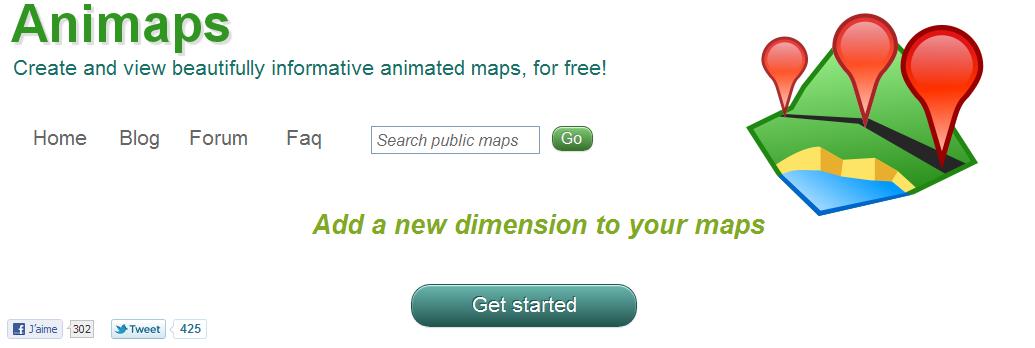 animation video google maps
