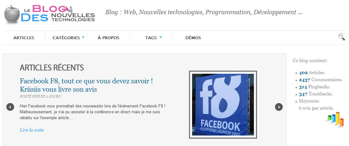 Le blog du dimanche : Le blog des nouvelles technologies - BlogNT