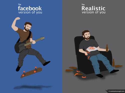 vie revee vie reelle facebook exhibition se la raconte lol humour facebook