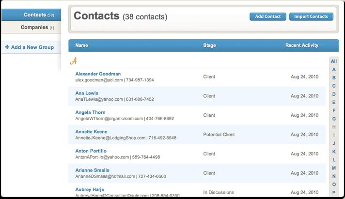 contactme gestion calendrier contacts en ligne