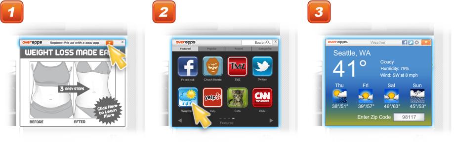 remplacer publicités par des widgets