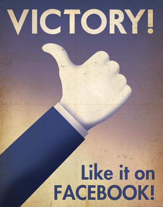 propagande facebook poster