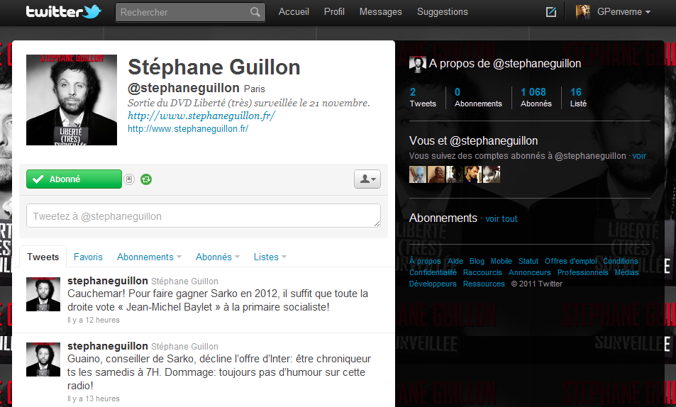stephane guillon twitter