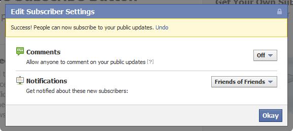 activer bouton abonnement facebook