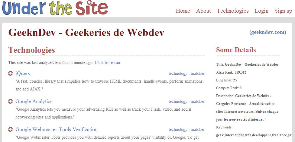 trouver scripts utilisés par un site headers