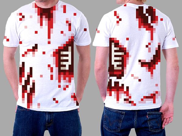 tee shirts zombie 8bits geek geekndev