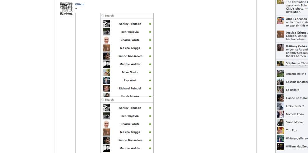 Glitchr - Le compte facebook pour détruire facebook
