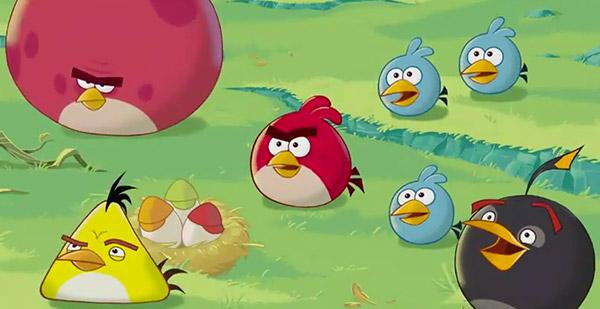 dessin animé Angry Birds