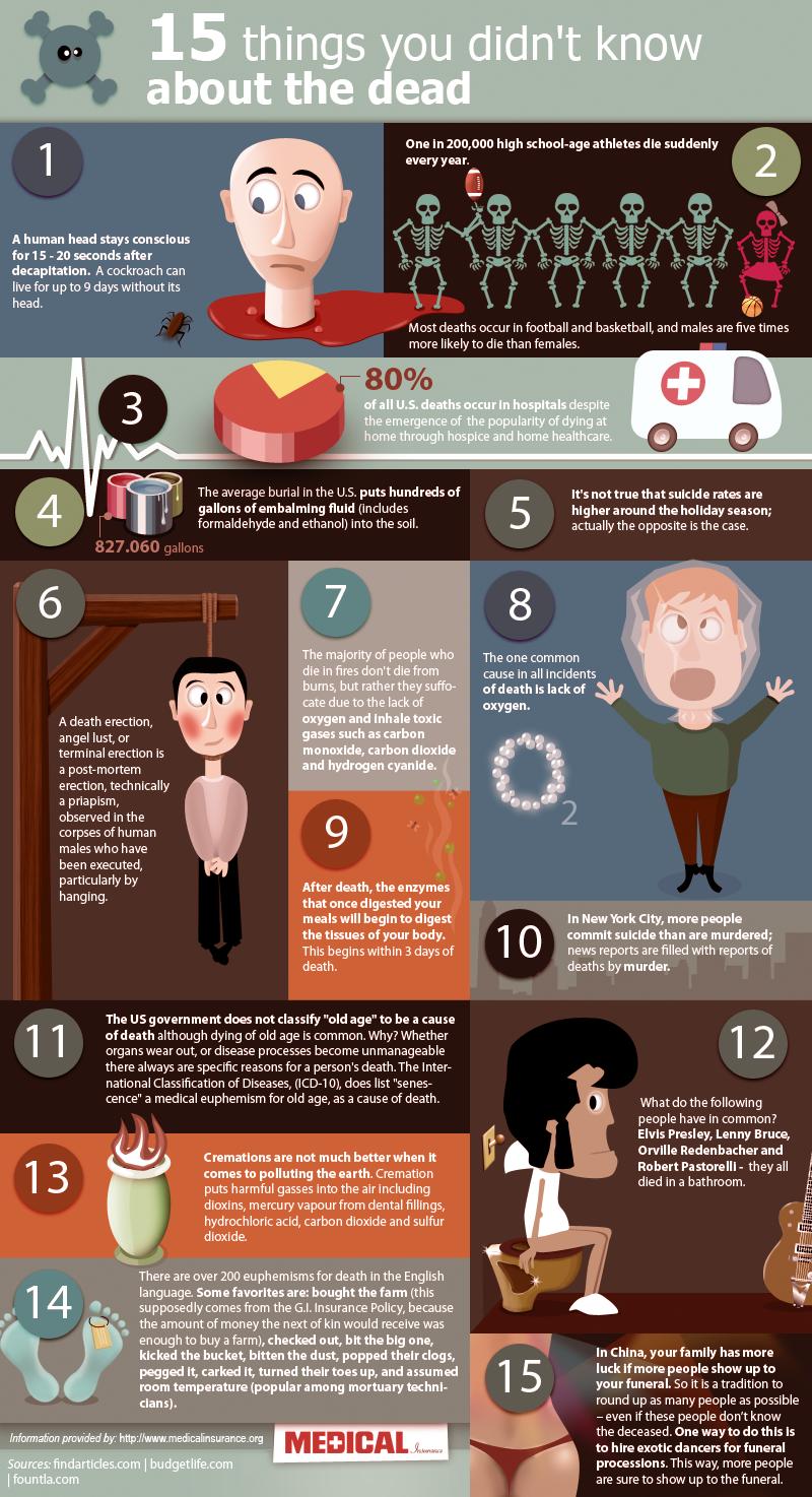 Infographie choses que vous savez pas sujet mort