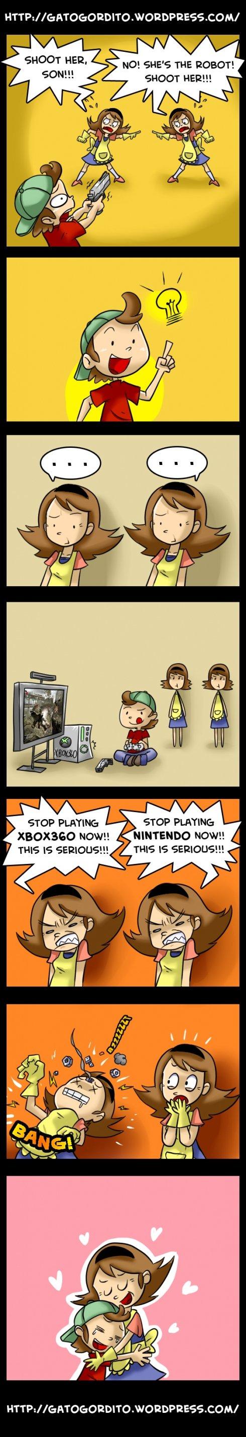 Humour les mères les jeux vidéos