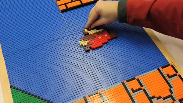 LEGO Une frise géante niveau Super Mario Bros