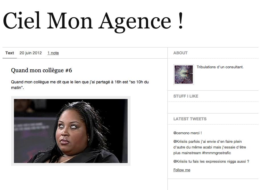 CielMonAgence tumblr des tracas agence