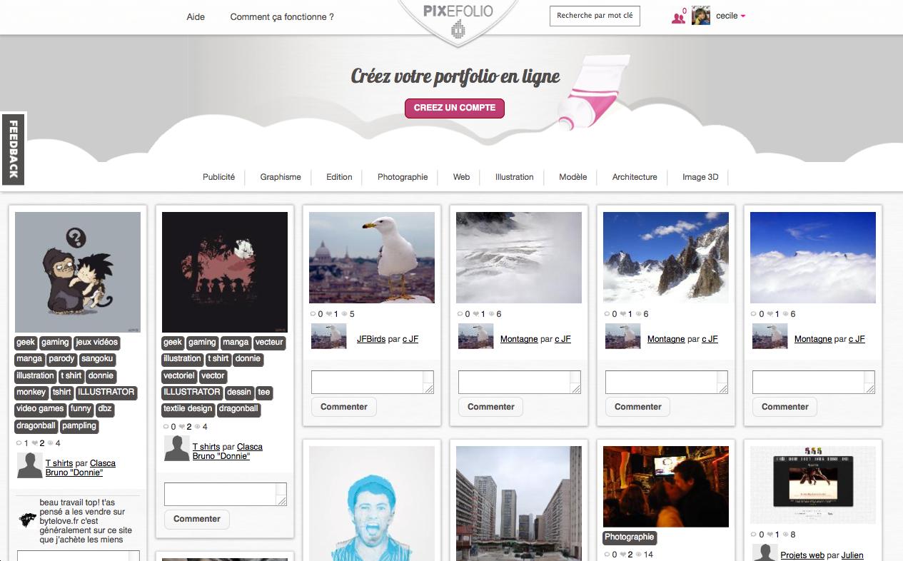 Pixefolio une application simple pour créer votre book pro développer votre réseau