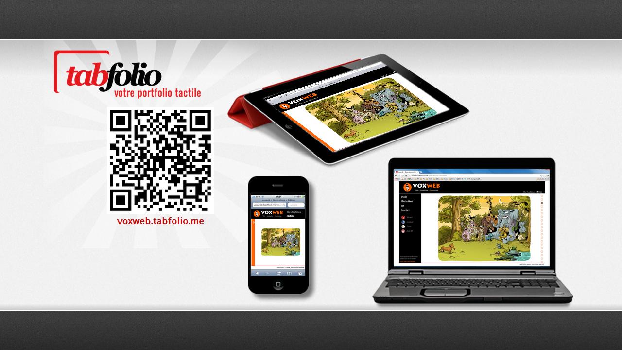 tabFolio® portfolio tactile pour iPad iphone ordinateurs