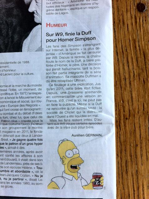 Simpson plus Duff sur