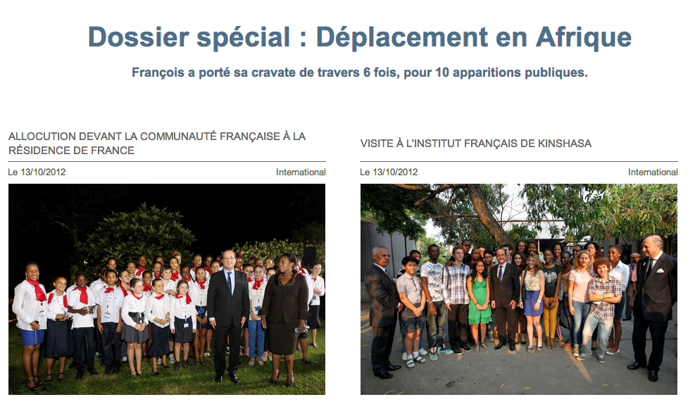 Francois TaCravate blog des voyages cravate Francois Hollande
