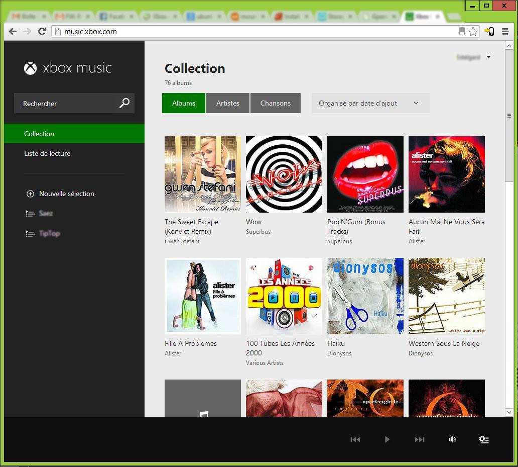 Enfin! Xbox Music disponible version web