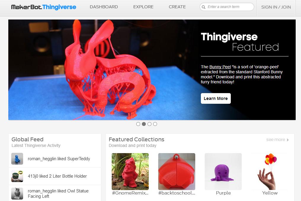 Thingiverse: trouvez des patrons pour votre imprimante 3D