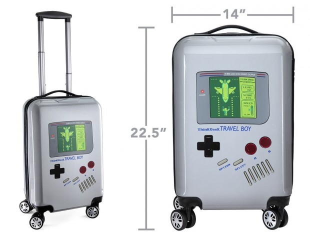 La valise GameBoy: un air de geek même en déplacement