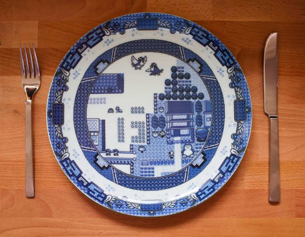 Les assiettes 8bits: geek même pendant les repas