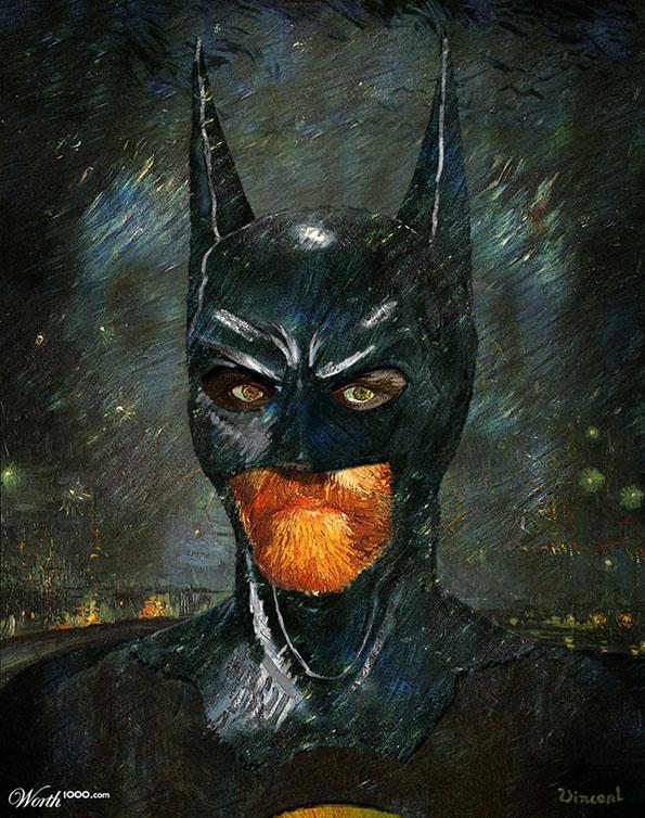 Des super-héros version peinture classique