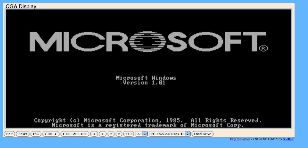 Emule Windows 1.01 depuis ton navigateur