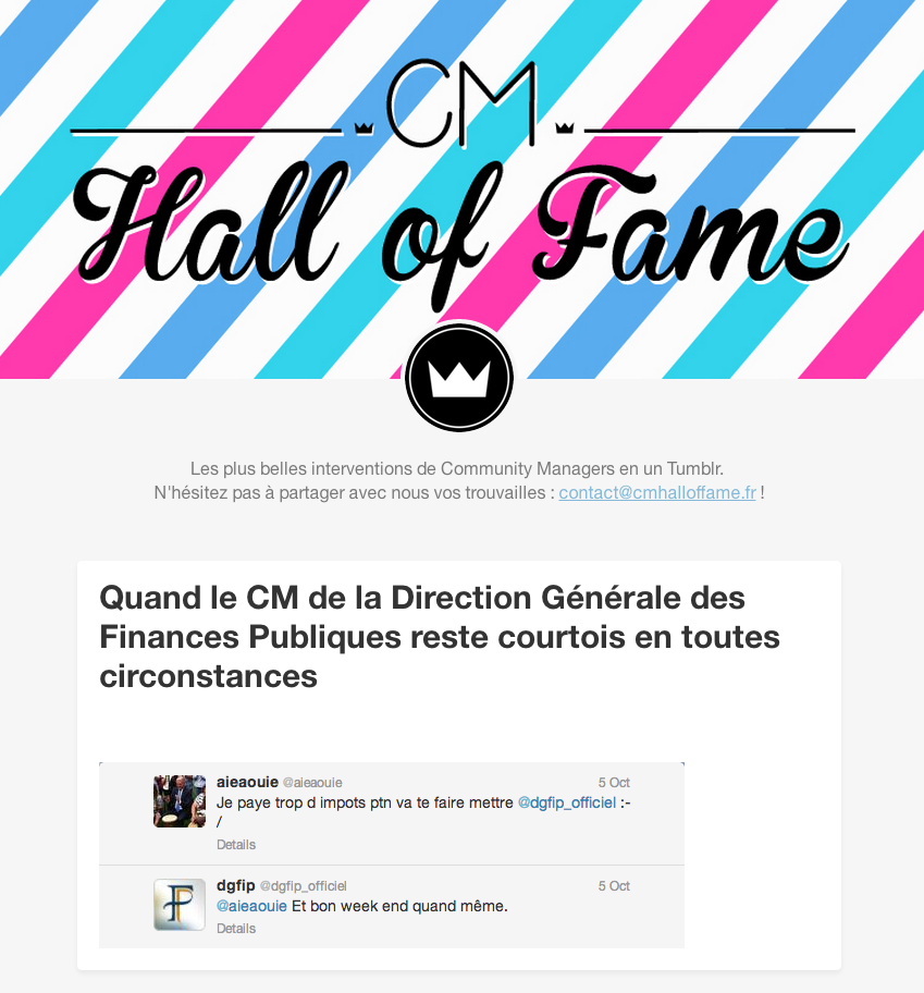 CM Hall of Fame - Le tumblr des exploits des Community Managers