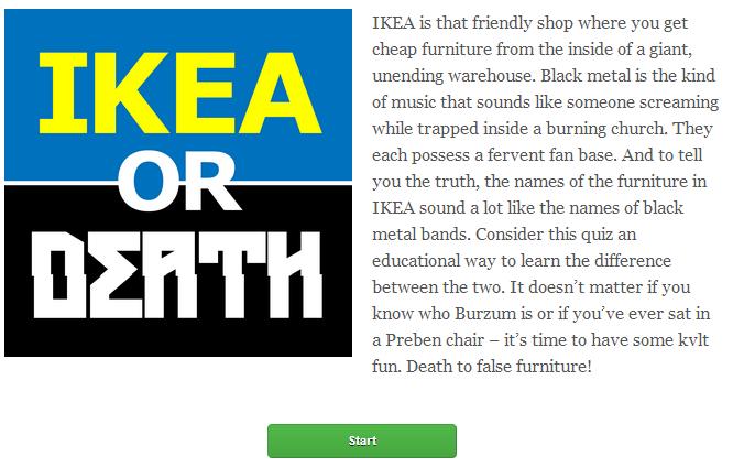 IkeaOrDeath.com : Est-ce un meuble ikea ou un groupe de metal?