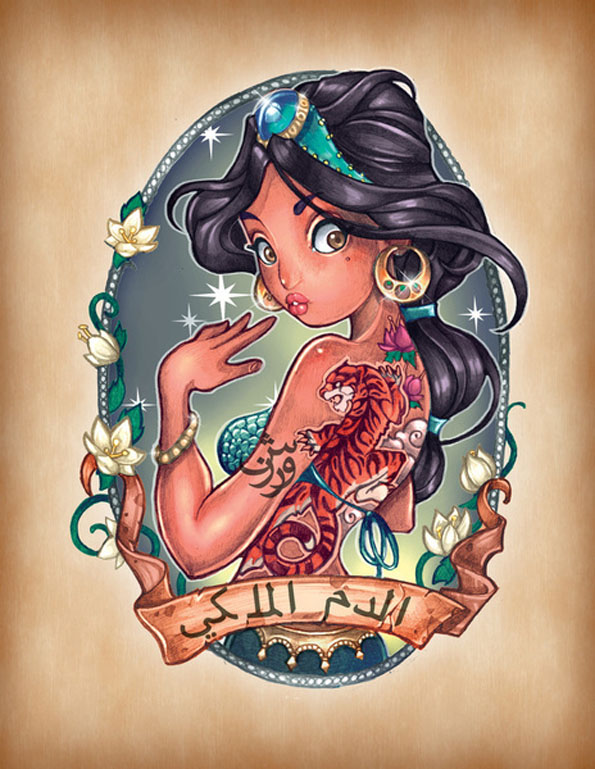 Les princesse Disney version tatouées