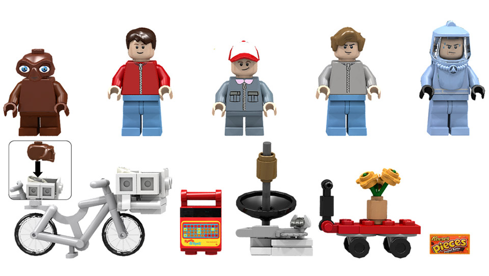 ET en lego: back to the 80s