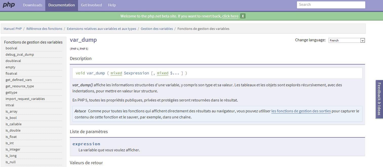 Nouveau design pour php.net