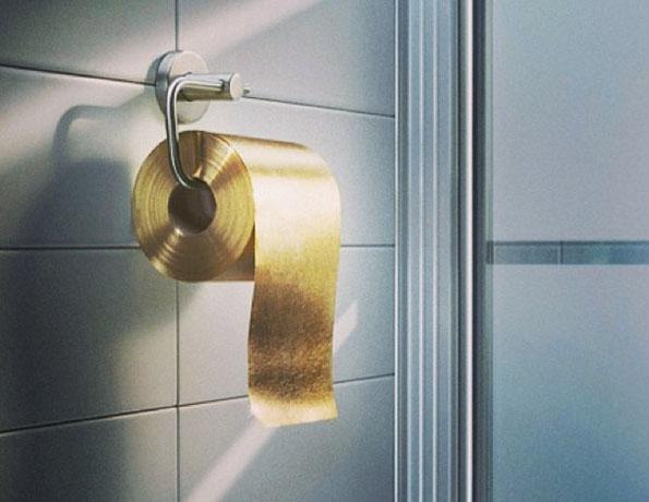 Du papier toilette en or, de 22 carats