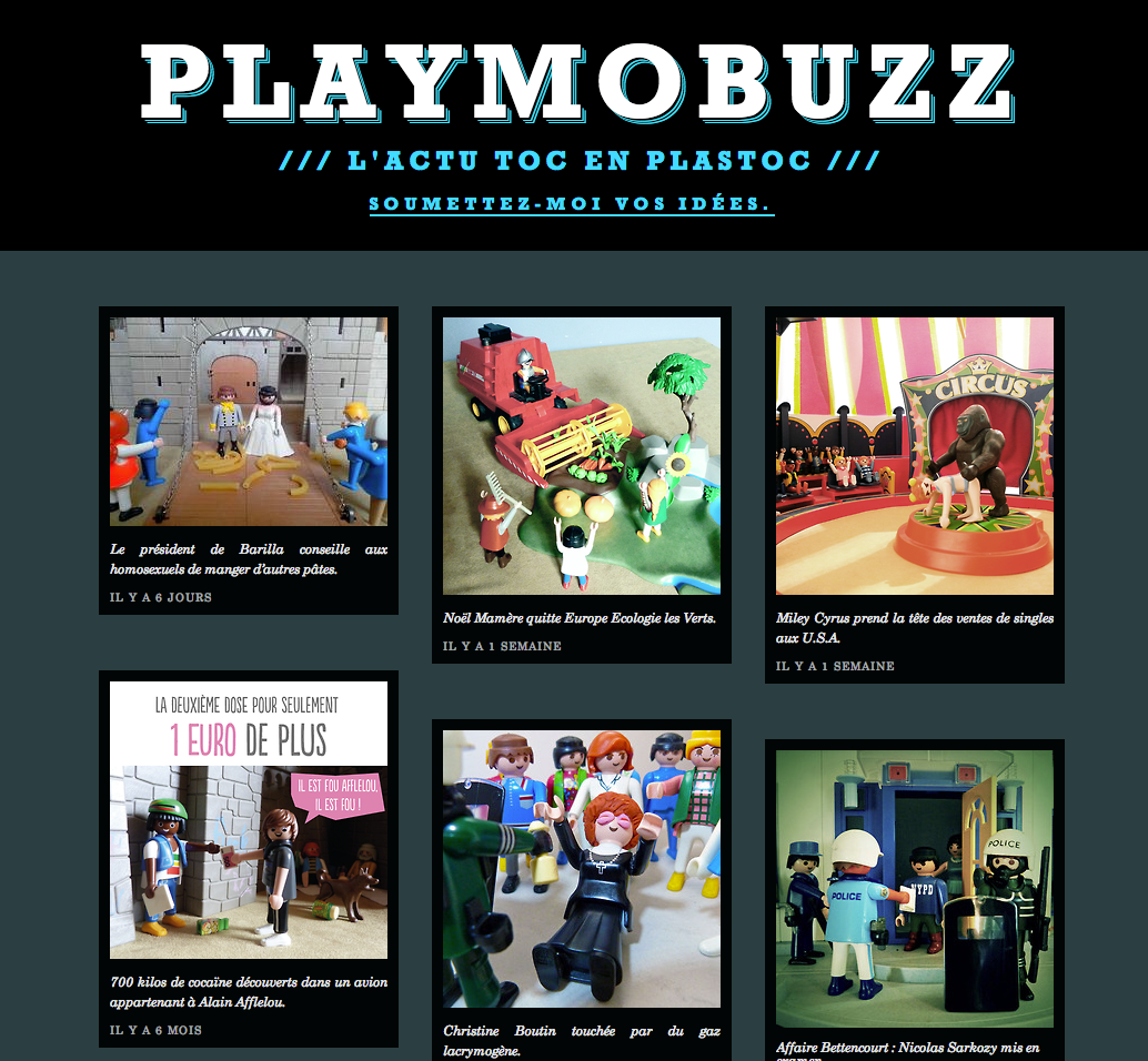 Playmobuzz: toute l'actu, en playmobil