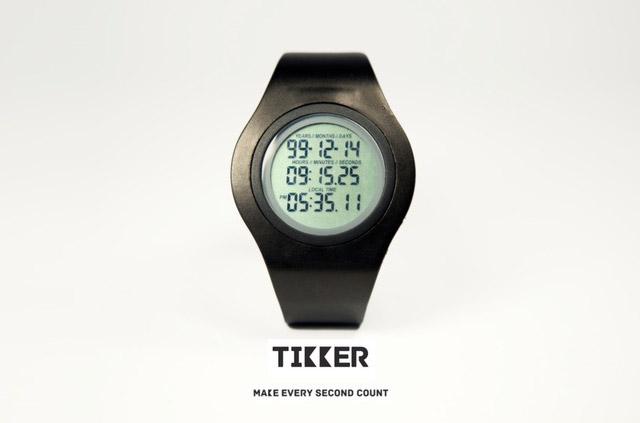 Tikker: La montre qui compte chaque seconde de ta vie