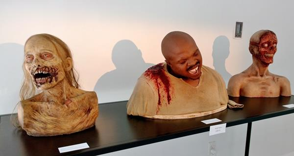 De l'art zombie dans une galerie new yorkaise